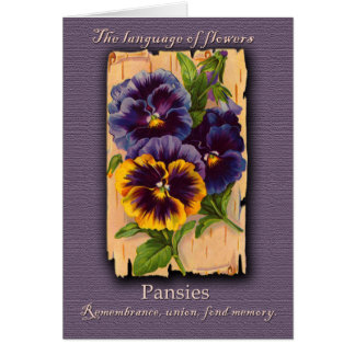 The Meaning of the Pansy Greeting Card