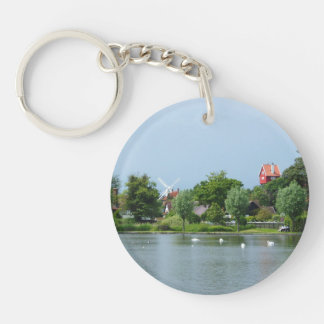 The Meare, Thorpness, Suffolk Double-Sided Round Acrylic Key Ring
