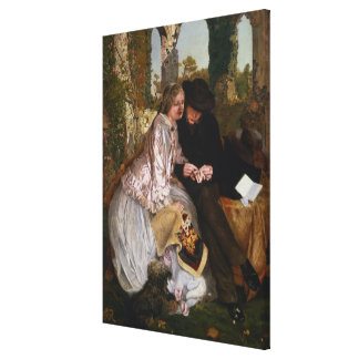 The Measure for the Wedding Ring, 1855 Canvas Print