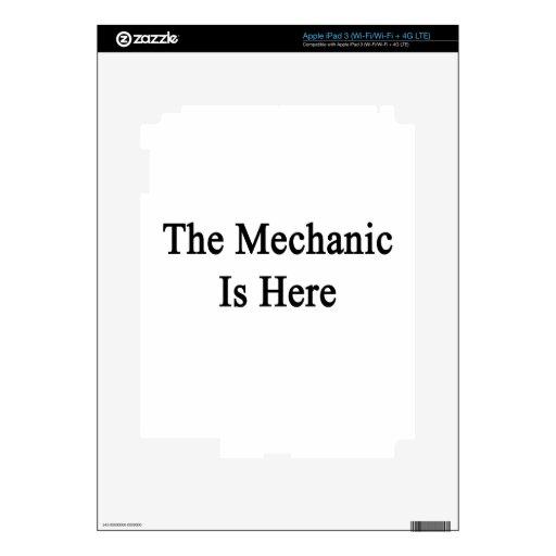 The Mechanic Is Here iPad 3 Skin
