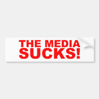 The Media Sucks! Bumper Sticker