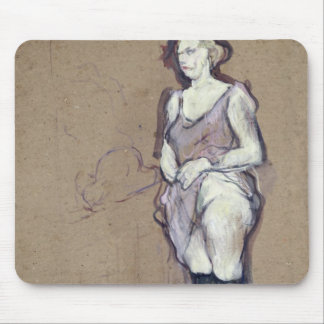 The Medical Inspection Blonde Prostitute 1894 Mousepad