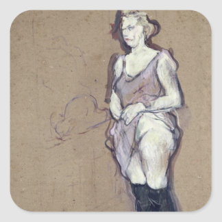 The Medical Inspection: Blonde Prostitute, 1894 Square Sticker