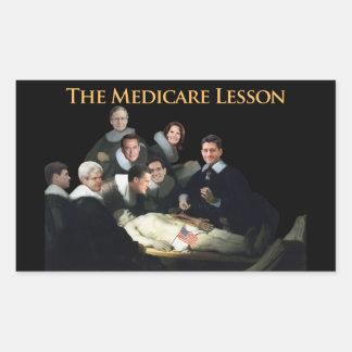 The Medicare Lesson Rectangular Sticker