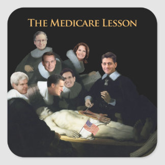The Medicare Lesson Square Sticker