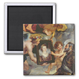 The Medici Cycle: Henri IV  Receiving Portrait 2 Inch Square Magnet