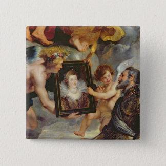 The Medici Cycle: Henri IV  Receiving Portrait Button