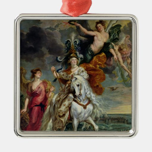 The Medici Cycle Metal Ornament
