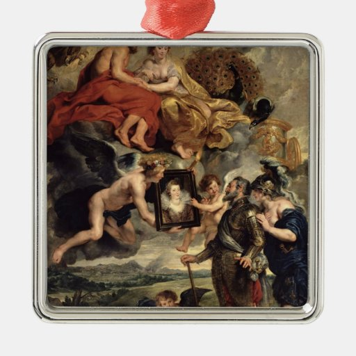The Medici Cycle Square Metal Christmas Ornament
