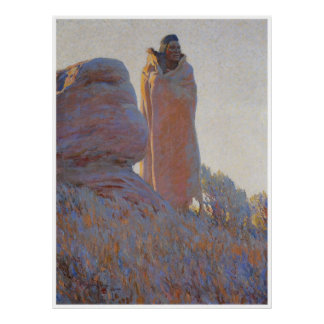 The Medicine Robe, 1915, American West Painting Poster