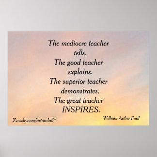 THE MEDIOCRE TEACHER MOTIVATIONAL POSTER