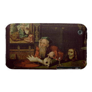 The Meditation of St. Jerome (oil on panel) iPhone 3 Case-Mate Cases