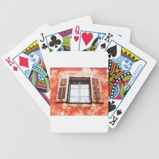 The mediteranean window bicycle playing cards