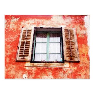 The mediteranean window postcard