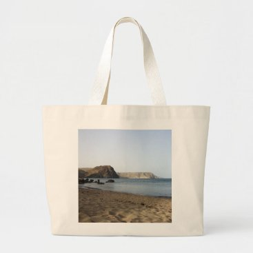 Beach Themed The Mediterranean and beach the Blacks, photograph Large Tote Bag
