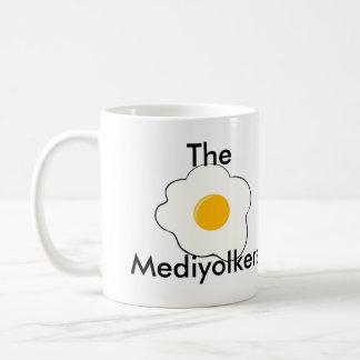 The Mediyolkers Double-Sided Mug, White, 325ml Coffee Mug