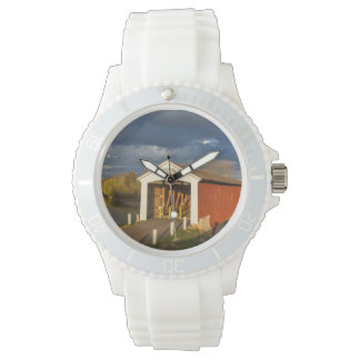 The Medora Covered Bridge Built In 1875 Wrist Watch