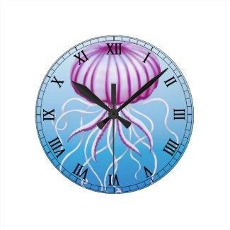 The Medusa Jellyfish Wall Clock