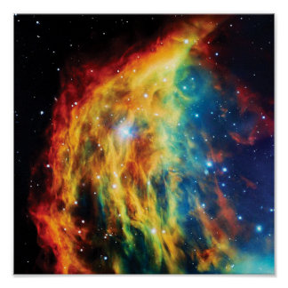 The Medusa Nebula Hubble Outer Space Photo Poster