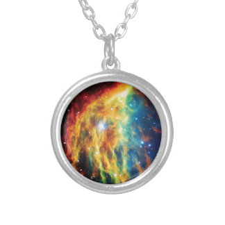 The Medusa Nebula Hubble Outer Space Photo Silver Plated Necklace
