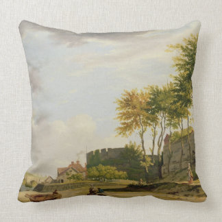 The Medway at Rochester, 1776 (oil on canvas) Throw Pillow
