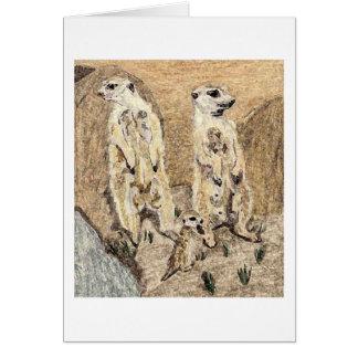 The Meerkat Sentries Card