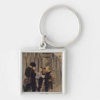 The Meeting, 1884 Silver-Colored Square Keychain