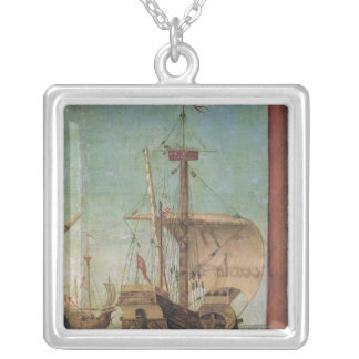 The Meeting and Departure of the Betrothed Silver Plated Necklace