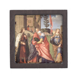The Meeting at the Golden Gate with Saints, 1515 ( Jewelry Box