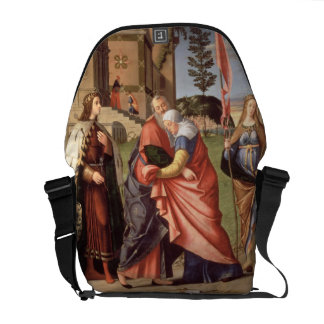 The Meeting at the Golden Gate with Saints, 1515 ( Messenger Bag