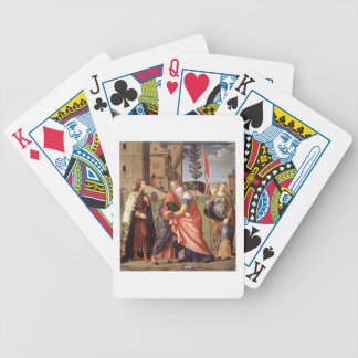 The Meeting at the Golden Gate with Saints, 1515 ( Bicycle Poker Deck