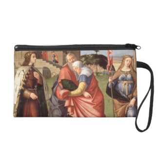 The Meeting at the Golden Gate with Saints, 1515 ( Wristlet Purse