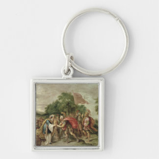 The Meeting of Abraham and Melchizedek Keychain