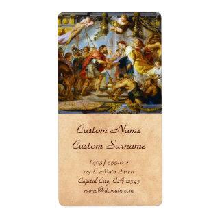 The Meeting of Abraham and Melchizedek Rubens art Label