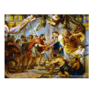 The Meeting of Abraham and Melchizedek Rubens art Postcard