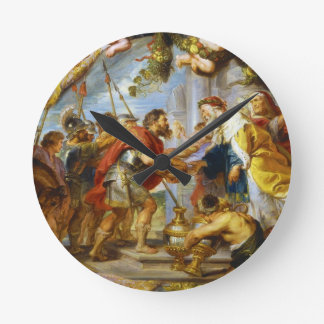 The Meeting of Abraham and Melchizedek Rubens art Round Clock