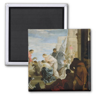 The Meeting of Anthony and Cleopatra, c.1645 2 Inch Square Magnet