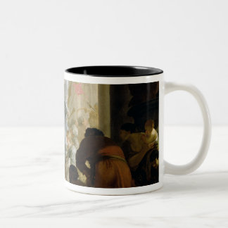 The Meeting of Anthony and Cleopatra, c.1645 Two-Tone Coffee Mug