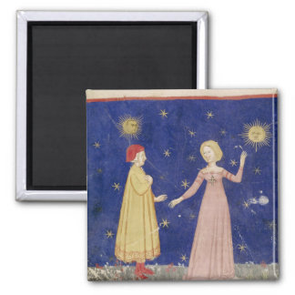 The Meeting of Dante  and Beatrice 2 Inch Square Magnet