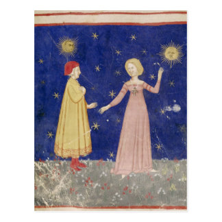 The Meeting of Dante  and Beatrice Postcard