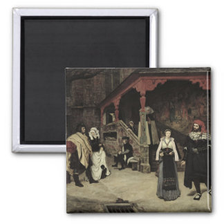 The Meeting of Faust and Marguerite, 1860 2 Inch Square Magnet