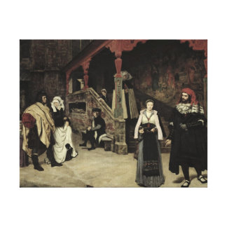 The Meeting of Faust and Marguerite, 1860 Canvas Print