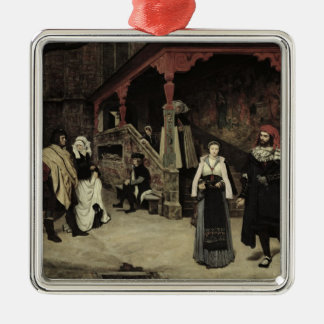 The Meeting of Faust and Marguerite, 1860 Metal Ornament