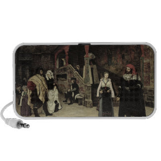 The Meeting of Faust and Marguerite, 1860 Portable Speaker
