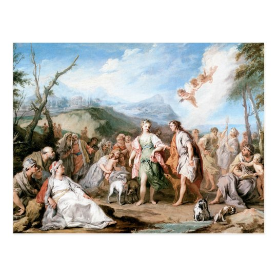 The Meeting of Habrokomes and Antheia Postcard