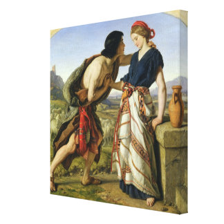 The Meeting of Jacob and Rachel, 1853 Canvas Print