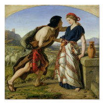 The Meeting of Jacob and Rachel, 1853 Poster