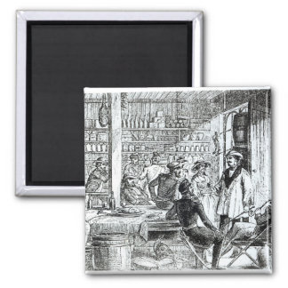 The Meeting of Mary Seacole  and Alexis Soyer 2 Inch Square Magnet