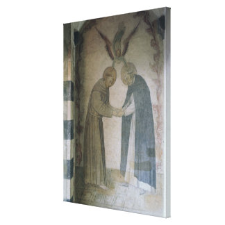 The Meeting of St. Dominic and St. Francis (fresco Gallery Wrap Canvas