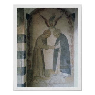 The Meeting of St. Dominic and St. Francis (fresco Poster